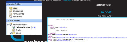 HTML emails - Armitage Online background